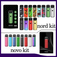 kit d'expédition gratuite achat en gros de-Kit Nord pour kit de démarrage Novo avec cartouche de capacité 2ml 3ml Bulit batterie 450 / 1100mAh Livraison gratuite