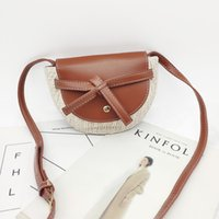 Wholesale vacation packages for sale - Group buy Distinctive2019 Weave Leisure Time Straw Plaited Article On Vacation Ins Mini Single Shoulder Satchel Semi circle Saddle Package