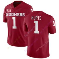 cf2315fb35b Jalen Hurts Kyler Murray Oklahoma Sooners Jersey NCAA College Football  Jerseys Home Away Red White Men size S M L XL 2XL 3XL