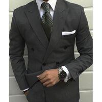 6b8a3aa4e35 Latest kingsman Smoking Grey Jackets men wedding suit Prom Tuxedo Slim Fit  2 Pieces Custom Groom mens suits terno masculino