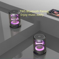altavoz bluetooth transparente al por mayor-TWS Altavoz inalámbrico Bluetooth Altavoz magnético transparente Mini cañón transparente Altavoz Bluetooth Sobrepeso Subwoofer Inalámbrico Creativo