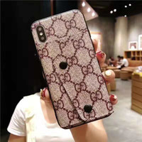 Wholesale smart pad china for sale - Group buy Luxury PU Leather Card Slot Wallet Phone Cases for IPhone XR XS MAX Plus S Hybrid TPU Can Stand Back Cover Case