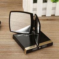 maquiagem rosto maquiagem venda por atacado-Clássico de alta qualidade dupla face espelhos garra preto espelho de maquiagem portátil mini dobrável espelho cosmético venda quente