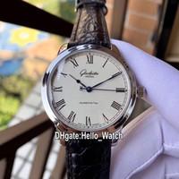 Wholesale modified auto resale online - New Limited Glashütte Original Senator Modify Automatic Mens Watch Steel Case Leather Strap Watches Hello_Watch