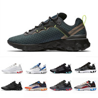 Wholesale low shoes for women resale online - 2019 Grid Pack React Element Volt Taped Seams Running Shoes For Women men s Blue Chill Trainer s Sail Sports Sneakers