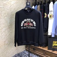 ingrosso vendita maglione tigre-New Men Sweatshirt Designer Cute Tiger Applique Shirt with Wings Slim Fashion Sweater 2019 New Hot Sale