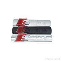 ingrosso logo audi q5-3D Metal Car S linea Sticker Cover per Audi Sline Logo A3-A4 A5-A6-Q3-Q5-Q7 B7 B8 C5 S6 Auto Decalcomania Auto Accessori di Buona Qualità