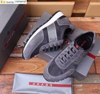 zapatos de vestir de hombre de cuero gris al por mayor-