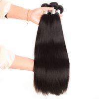 ingrosso tinture per i tessuti-Vendita calda brasiliana 100% capelli umani tessere parrucche di capelli remy corpo dritto colore naturale tinto disponibile 10-30 pollici