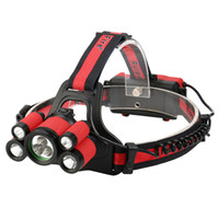 Wholesale lm waterproof headlamp resale online - 40000 LM X XM L T6 LED Adjustable Rechargeable Waterproof Headlamp Headlight Set Travel Camping Fishing Head Torch J25
