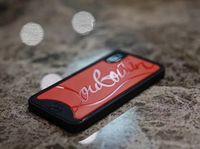 xperia schwarzer fall großhandel-2 in 1 Glanz Gedruckt Brief Paris Zurück Fall Stoßfest Soft Phone Shell Flut Marke für iPhone XS Max XR 6 s 8 Plus