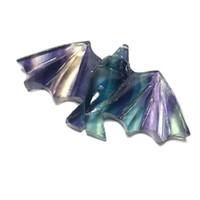 animais de pedra esculpida venda por atacado-Cristal Natural Fluorite Pedras Pequenas Animais Esculpidos Rainbow Carving Fluorite Morcegos Para Venda