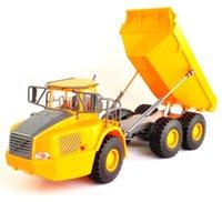 rc großes spielzeug großhandel-Rc Truck Big Muldenkipper Technikfahrzeuge Muldenkipper Geladen Sand Auto Mit Licht Stimme Spielzeug Für Kinder