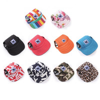 Wholesale dogs hats for sale - Group buy Pet Dog Hat Baseball Hat Summer Canvas Cap Only For Small Pet Dog Outdoor Accessories Outdoor Hiking Sports EEA348