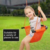 Wholesale outdoor patio swings resale online - 150KG Maximum load Safer Children kids Swings Garden Outdoor Patio Swings Toys Hand braid Rope Net Indoor swing chair for Child