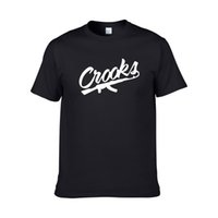 ingrosso mens crooks castelli-Crooks and Castles T-Shirt Uomo manica corta T-shirt uomo in cotone CROOKS Lettera Mens t shirt Top T-shirt