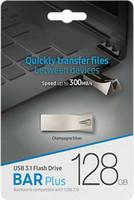 32gb flash bellekler bellek çubuğu toptan satış-2019 Sıcak Satış Metal Bar Artı USB Flash Sürücü 32 GB 64 GB 128 GB Memory Stick USB 3.0-2.0 U disk PC Sürücüler Blister Perakende Paketi
