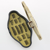 Wholesale dual magnet for sale - Beauty Makeup Magnetic Eyelashes Dual Triple Magnet Eye Lashes D Ultra Thin Reusable False Eyelashes SSA264