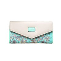 Wholesale large clutch wallets resale online - Disputent Fashion Printing Women Wallets Leather Women Purse High Quality Wallet Female Clutch Large Capacity