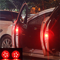 Wholesale camping car design for sale - Group buy 2pcs set LEDs Car Door Opening Warning Lights Wireless Magnetic design Strobe Flashing Anti Rear end Collision Safety Lamps