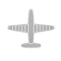 broches de avión al por mayor-2019 Personalidad de Dibujos Animados Cobre Broche de Oro de Plata Modelo de Avión Cobre Circón Broche de Alta Calidad de Regalo de Joyería de Moda