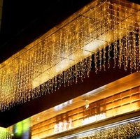 Wholesale led white wall curtain lights for sale - Group buy Outdoor M x M Led V Window Curtain Icicle String Lights for Wedding Party Home Garden Bedroom Christmas Indoor Wall Decoration