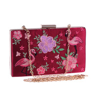 ingrosso borse da sera stampa animale-Borse da donna con stampa animalier Borse a tracolla con catena a tracolla Messenger Bag Diamonds Party Wedding Small Pocket Evening Clutch Bags