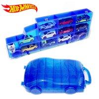 spielzeugboxen groihandel-Hot Wheels Tragbare Kunststoff Aufbewahrungsbox Halten 16 sport diecast modelle auto spielzeug für kinder pädagogisches lkw junge freund juguetes j190525