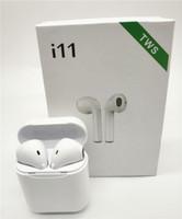 schneller bluetooth headset großhandel-Neue I11s TWS Mini Bluetooth Ohrhörer Wireless Earphone für alle Smartphones schnelle Lieferung mit Ladegerät Box