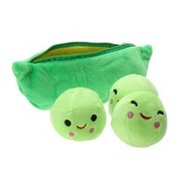 Wholesale peas doll for sale - Group buy LXH CM Kids Baby Plush Toys For Children Cute Pea Stuffed Plant Doll Girlfriend Kawaii Gift Toy TWO Color