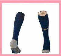Wholesale hose camping resale online - Top quality Boca Juniors soccer socks blue Knee High stocking adult Thicken Towel Bottom long hoses away white sport socks football sock