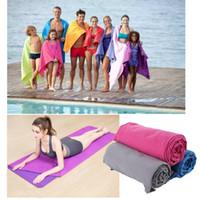 açık hava yoga paspasları toptan satış-Açık Spor Çabuk Kuru Banyo Seti Havlu Mikrofiber Kaymaz Havlu Banyo Spor Kamp Yoga Mat Plaj Battaniye için