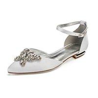 Scarpe da sera scarpe da sera in raso di seta a punta e scarpe da sposa con  la festa di compleanno della ragazza bridesmaid bridal di cristallo 3D 3599f8fa2ca