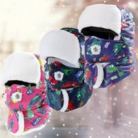 детские шапки бомбардировщиков оптовых-Children Boy Girl Super Thick warm Ski Hat Cap With Mask Leifeng Trooper Trapper Snowboard Winter  Bomber Earflap Kids