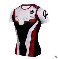 т короткие мстители оптовых-Футболка Marvel Movie Avengers с коротким рукавом с коротким рукавом Quantum Warfare Mens 3d футболка с принтом Summer Cool Tshirt For Male