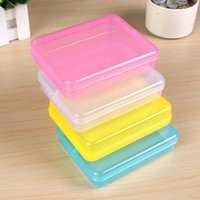 Wholesale small card boxes for sale - Group buy 4 Color Mini Small Plastic Transparent With Lid With Lid Collection Credit Card Bank Card Container Case Storage