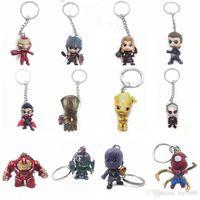 llavero joker al por mayor-Funko POP Marvel Super The Avengers Hero Harley Quinn Thanos Spiderman Joker Juego de tronos figuras de acción Llavero de juguete juguetes para niños
