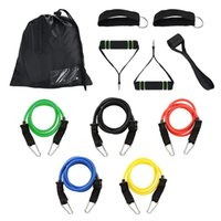 Wholesale rubber bands fitness for sale - Group buy Multifunctional Gym Resistance Bands Kit Fitness Bands Workout Home Elastic Band Chest Expander Set Pilates Yoga Rubber