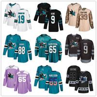 Wholesale evander kane jersey for sale - Group buy Custom San Jose Sharks Jersey Erik Karlsson Brent Burns Evander Kane Joe Thornton Logan Couture USA Fashion hockey jerseys