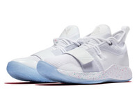 Wholesale pg box resale online - Kids PG Playstation white boys hot sales Best Quality Paul George men women Basketball shoes With Box size36