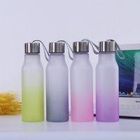 flach schleifen großhandel-Vier Single Layer Kunststoff Boden Gradient Cup Kreative im Freien beweglichen Flachboden Cup Outdoor Sport Fitness Wasser Cup T3I5332