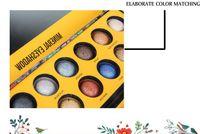 gebackene lidschatten make-up großhandel-2019 Hochwertiges Make-up MK Cosmetics 14 Farben Glitter Lidschatten-Palette Gebackener Metallic-Lidschatten Rauchiger Akt Mit Pinsel