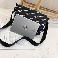 Wholesale waterproof tablet bags resale online - Waterproof Champions Letter Oxford Messenger Bag Belt Waist Fanny Packs with Tag School Laptop Tablet Bags Protable Travel Sports Totes