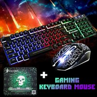 Wholesale gaming pc prices resale online - Gaming Keyboard Mouse Wired USB Keyboards and Mouse Back lit Keyboard for PC Desktop Laptop Gamer best price