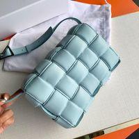 Wholesale women s bags for sale - Group buy Handbag designer luggage women s messenger bag leisure temperament pleated Plaid woven cow leather pillow bag