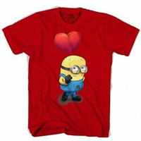 Wholesale minion printing resale online - Love Minion Men s Women s T Shirt