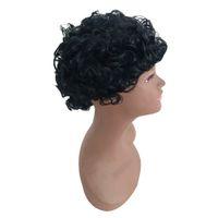 peinados de dama corta al por mayor-Precio de fábrica 1 unid Mujeres Moda Señora Negro Corto Atractivo Ondulado Peinado Traje Moda Cosplay Partido Pelucas Stand 2019 Mar22