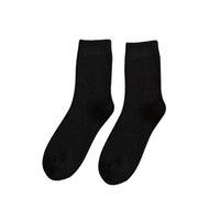 harajuku yüksek çoraplar toptan satış-Harajuku Retro Erkekler Pamuk Gevşek Çorap AutumnWinter Tüp Saf Yüksek Kaliteli Tasarımcı En Yeni Yılbaşı Hediyeleri Katı Çorap 19Oct15