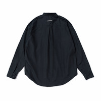 хлопок рубашка с длинным рукавом оптовых-Осень с длинным рукавом Хлопковая пуловерная рубашка Свободная посадка Kanye West Рубашки с тремя пуговицами Уличная одежда с надписью на спине