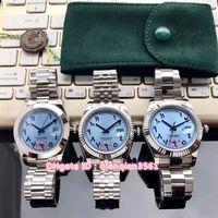 pulseras arabes al por mayor-3 Estilo Gran día-fecha Lce Números azules Árabes Gaviota Reloj automático para hombre Zafiro 316l Pulsera de acero Relojes de alta calidad Nuevos